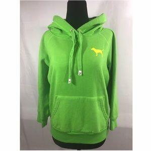 *PINK* Victoria Secret Lime Green Hoodie